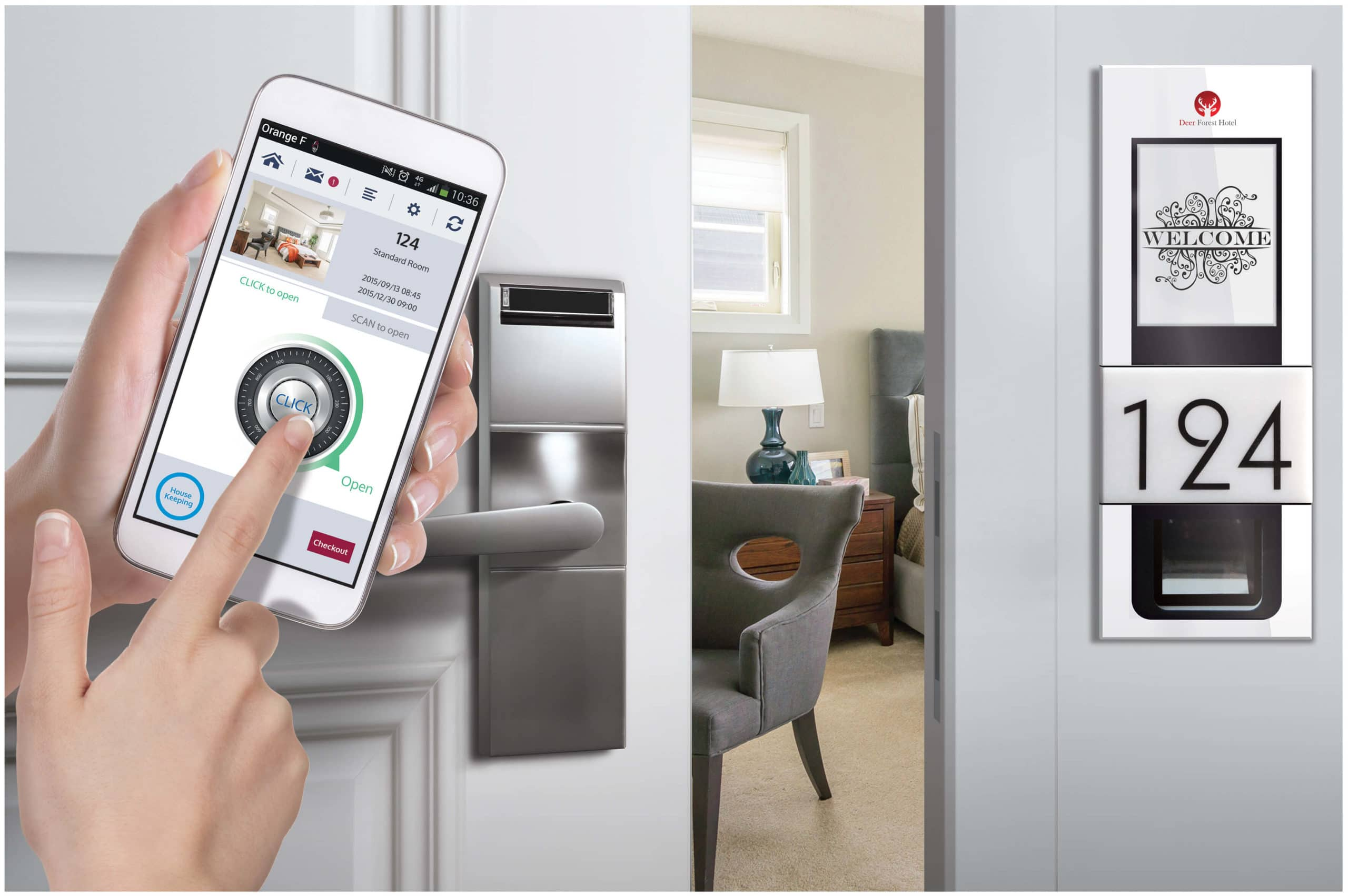 Ouverture de porte avec le système Sesame Technology